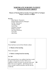 Minutes from PPG meeting 18th August 2015