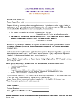 2015-2016 Student Application