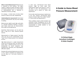 Measurement of home blood pressure