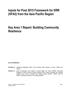 Building Community Resilience - 6th Asian Ministerial Conference