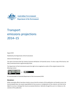 Transport emissions projections 2014*15