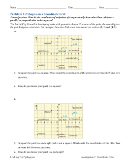 Problem 1.2 Shapes on a Coordinate Grid