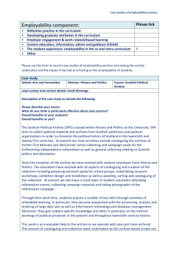 Case studies of employability practice