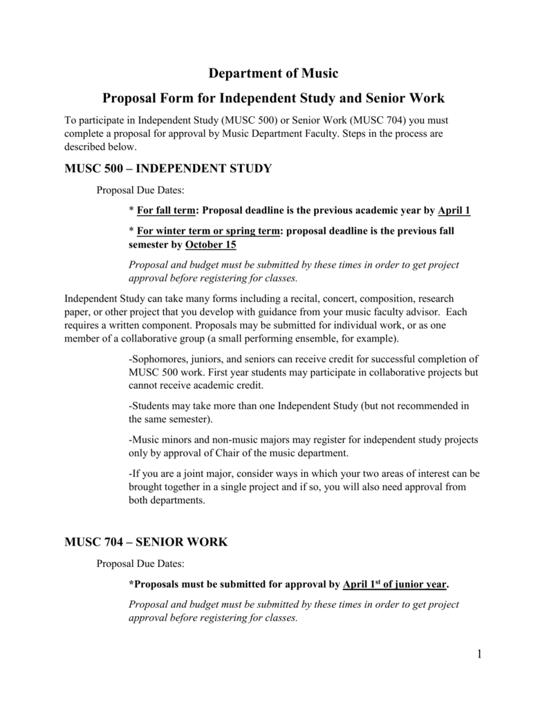 Student Project Proposal Form