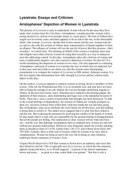lysistrata feminism