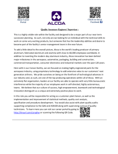 Alcoa Career Portal Check us out at Facebook Quality Assurance