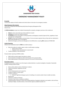 Emergency Management Policy