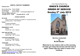 5th July 2015 - Knox`s Church, Arbroath