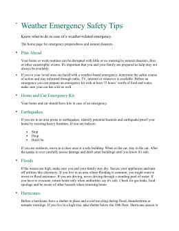 Weather Emergency Safety Tips