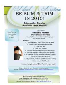 BE Slim & Trim in 2010!