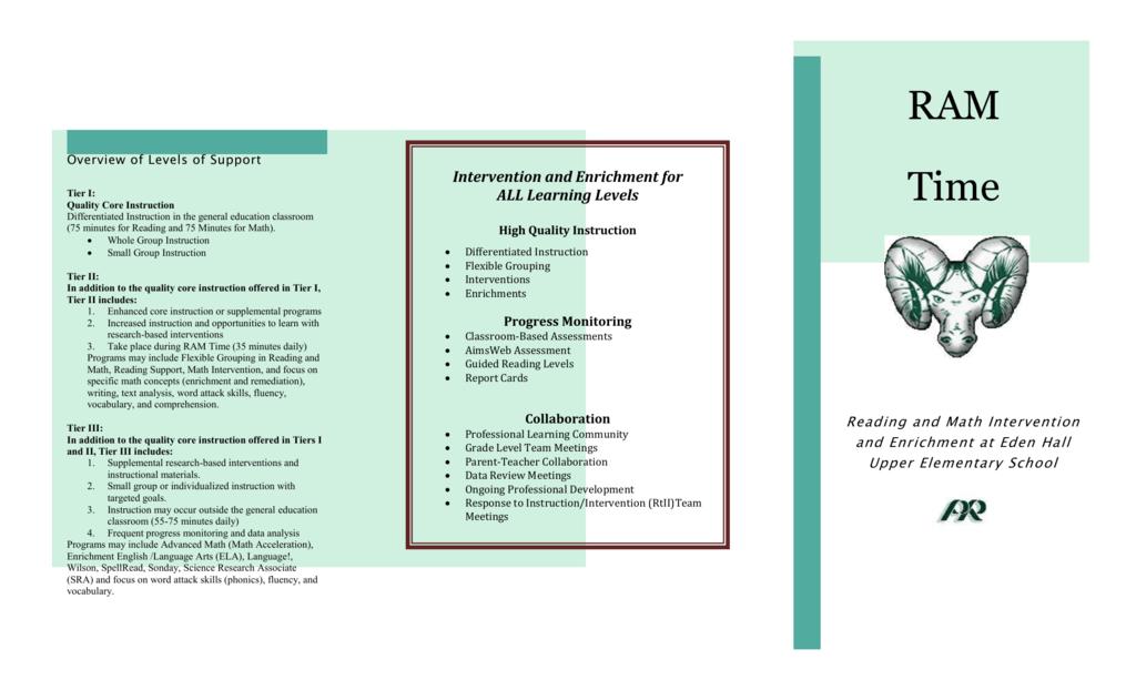Ram Time Brochure Pine Richland School District