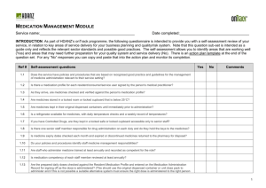 Medication Management Module
