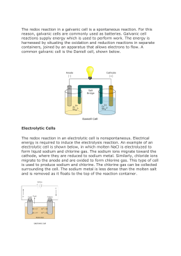 The redox reaction in a galvanic cell is a spontaneous reaction. For