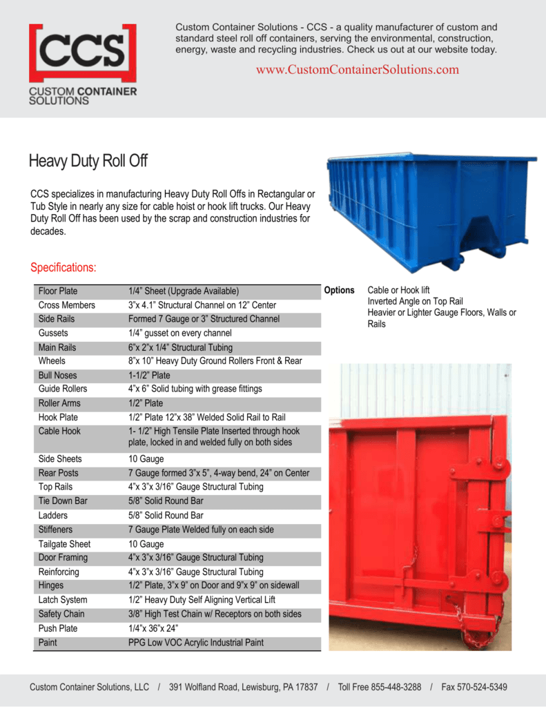 Custom Container Solutions - CCS