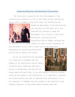 Understanding the Constitutional Convention