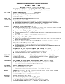 Resume Template Carnegie Mellon