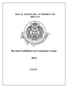 Guidelines on Consumer Loans - Royal Monetary Authority of Bhutan