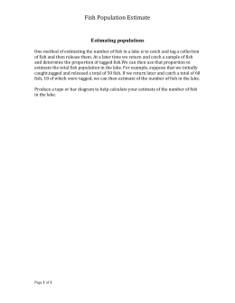 Handout 1: Fish Population Estimate