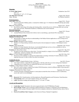 Tomasi Steven Resume - u.osu.edu.chicken