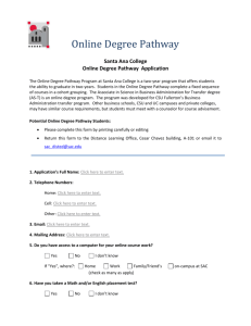 Santa Ana College Online Degree Pathway Application