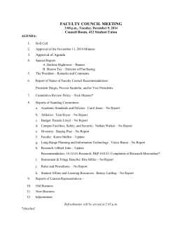 agenda - Faculty Council - Oklahoma State University