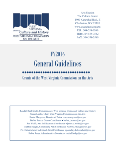 General Guidelines - West Virginia Division of Culture and History