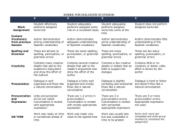 dialogue rubric 5A