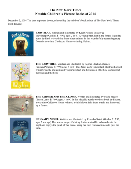 The New York Times Picture Book List 2014
