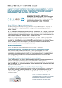 MEDICAL TECHNOLOGY INNOVATORS: CELLMID The Australian