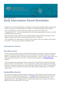Early Intervention Parent Newsletter November 2013