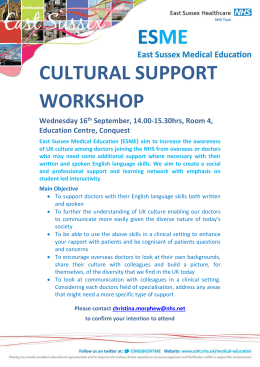 1b. Cultural Support Workshop