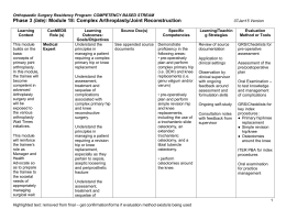 Module 18- Complex Arthroplasty curriculum map final