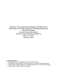 SciTS Conference 2011 Report - Science of Team Science (SciTS