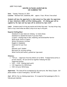 WHS Ice Climbing Permission Forms