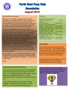 Newsletter Aug 2015 - The Pony Club Branches