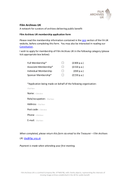 FA UK Membership Application Form