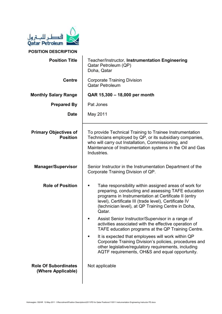 Position Title - Jobs at Holmesglen