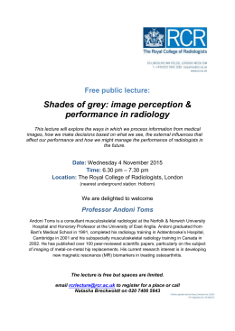 Shades of grey: image perception & performance in radiology