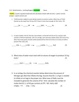 Concentration Review Q& A
