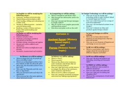 Year 5 Topic Overview Autumn 2015