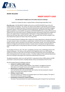 Press Release Template for Societies and Universities