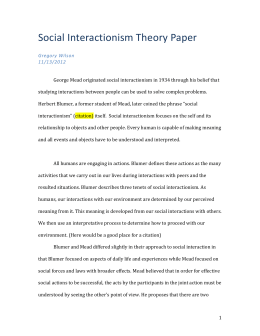 QUAL 8400 Social Interactionism Paper with Instructor Comments
