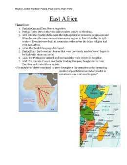 East Africa - AP World History