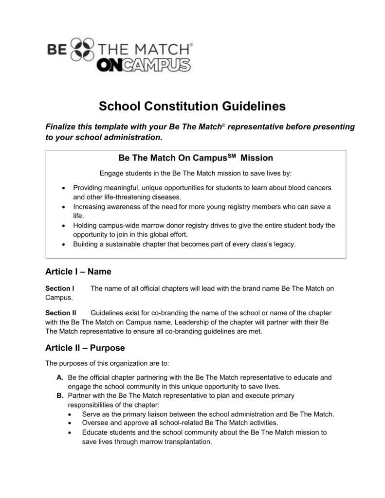constitution and bylaws template - class constitution template gallery professional report