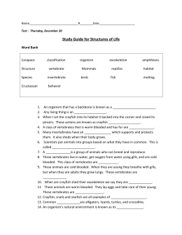 Structures of life study guide