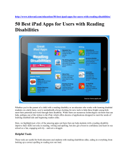 50 Best Reading Apps - DoDEA Special Education Resource Directory