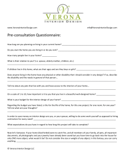 the Complete Pre-Consultation Questionnaire