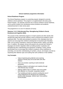 School Readiness Programme Information