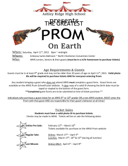Prom Information Handout