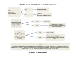 Decision Tree for Deviation from Standards/Regulations